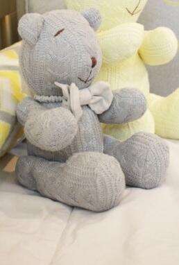 Urso M tricot trança ou losango Fau