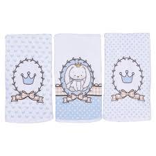 Kit 3 paninhos de boca coelhinho azul Colibri