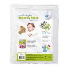 Lençol imperm. toque de rosas baby  Z5411 Fibrasca