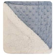 Cobertor Sherpam azul dots 1,10 x0,90m Laço