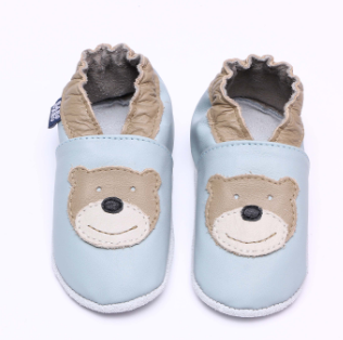 Sapatinho urso light blue/ Khaki babouabu PP