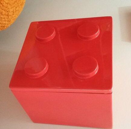 Nicho Lego Quadrado Vermelho