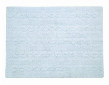 Tapete trança azul P 80x120cm Lorena Canals