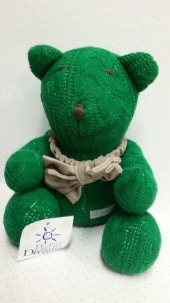 Urso P tricot trança ou losango FAU