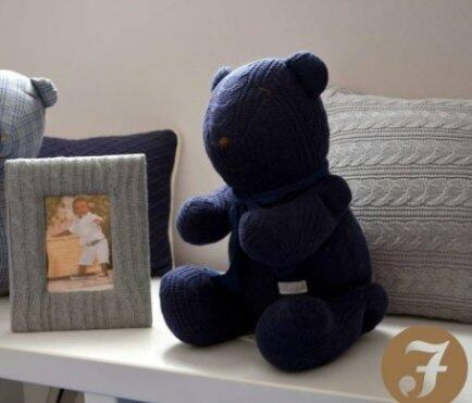 Urso G tricot trança ou losango Fau