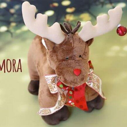 Alce pocotó decoração Natal