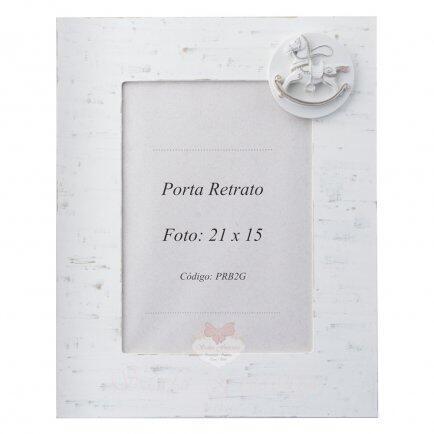 Porta retrato vertical  branco 21 x 15