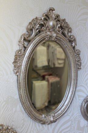 Espelho oval  laçarote M fabulous prata E15FP