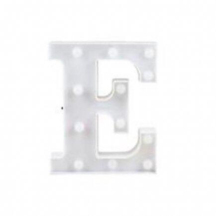 pe Letra luminosa E branca Lunne 10043