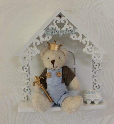 Quadro urso casinha q24 A0093/A0094
