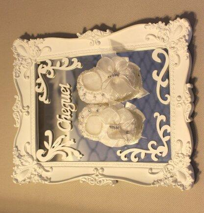 pe Porta maternidade espelhado sapatinho tricot