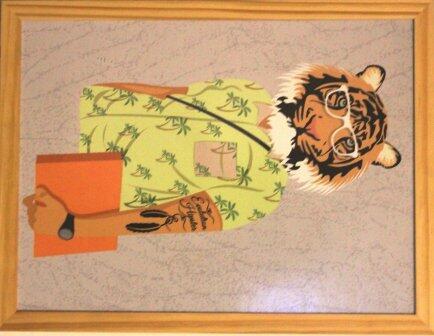 Quadro 33 x 43cm arte digital hipster Clarear