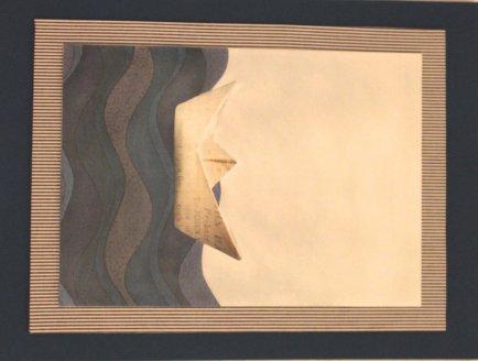 Painel 30 x 40cm arte pastel navy Clarear