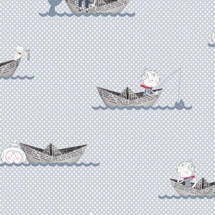 Papel parede RENASCER - barco de papel menino 6209