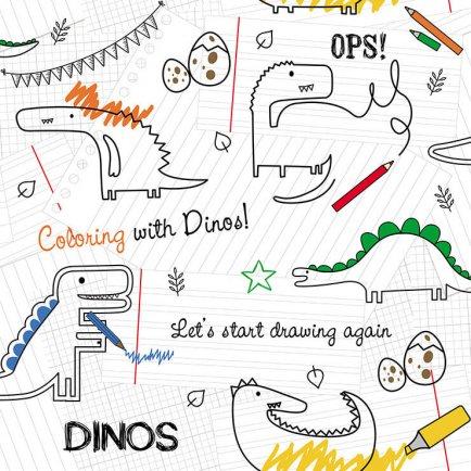 Papel parede RENASCER - Dinos 6206