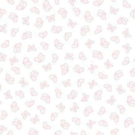 Papel parede RENASCER - Borboletas rosa 6217