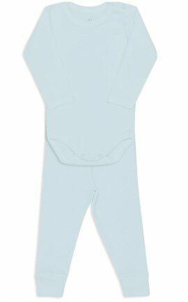 i18 Kit body/calça canelado M azul 0880 Dedeka