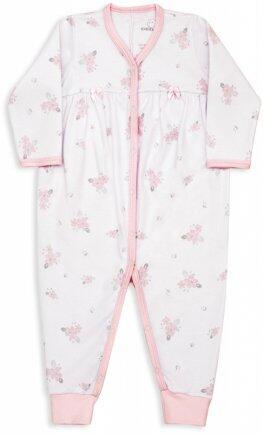 pe i18 Macacão suedine floral rosa RN 18571 Dedeka
