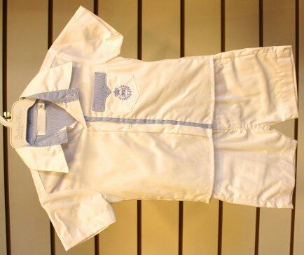 Conj bermuda + camisa mc detalhe azul  P 1936/1941