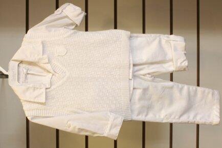 Conj 3pçs camisa calça colete trico M Barbara Kids