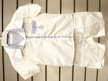 Conj bermuda + camisa mc detalhe azul  G 1936/1941