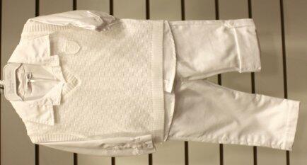 Conj 3pçs camisa calça colete trico G Barbara Kids