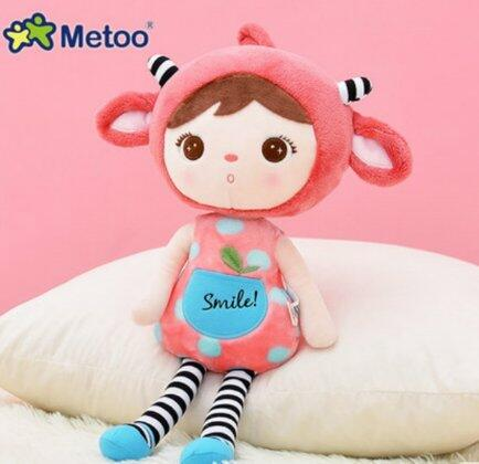 Boneca Metoo doll duende sorriso cereja buga baby