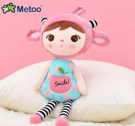 Boneca Metoo doll duende sorriso rosa buga baby