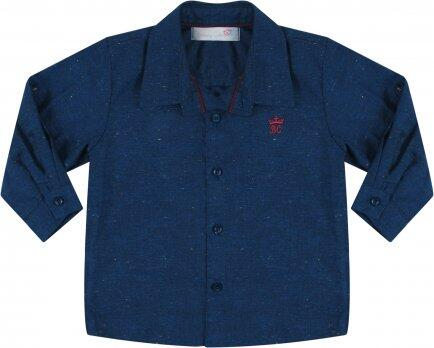 i18 Camisa botone azul T1 Barbara Kids 7419