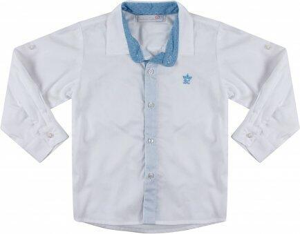 i18 Camisa branca det az claro M Barbara Kids 7420
