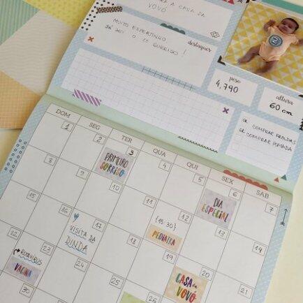 Calendário do bebê Coloré