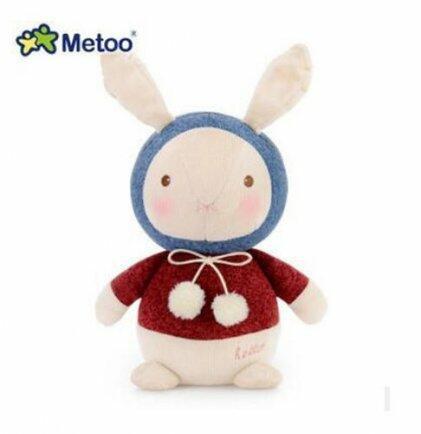 Pelúcia metoo coelho az/vermelho bup baby 2264