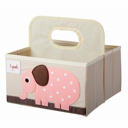 Organizador de fraldas elefante rosa bup baby 2411