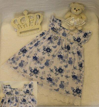 v19 Vestido floral azul T2 Anjos baby