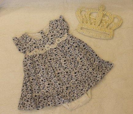 v19 Vestido body floral azul M Anjos baby