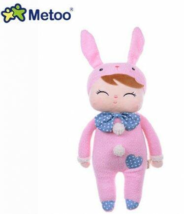 Boneca Mini Metoo Angela pink bunny  buga baby