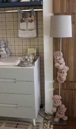 Abajur de chão c/ 4 ursos tricô ABJ101