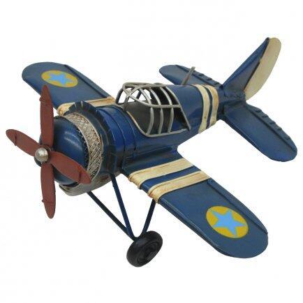 Avião estrela azul 17cm Avalon