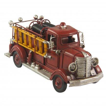 Carro de bombeiro vermelho 23cm Avalon