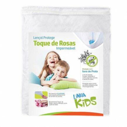 Lençol protege kids toque de rosas Z7662 Fibrasca