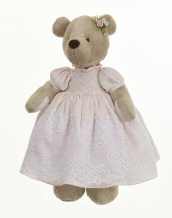 Ursa Kikinha Pérola vestido rosé c/renda 3035