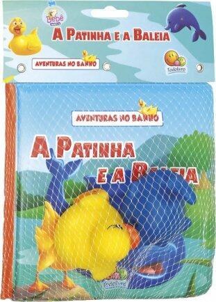 Livro aventuras no banho a patinha e a baleia