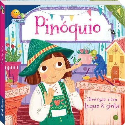 Livro contos de fada toque e sinta Pinóquio