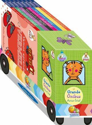 Livro fases do bebê o grande ônibus arco-iris