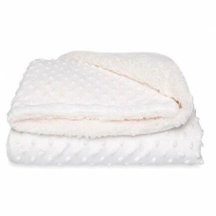 Cobertor Sherpam branco dots 1,10 x0,90m Laço