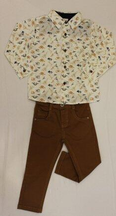 Conjunto camisa estamp c/calça sarja T1 Anjos baby