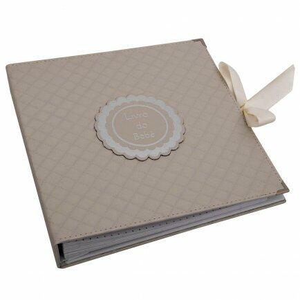 Album do bebê luxo matelasse marfim Original Paper