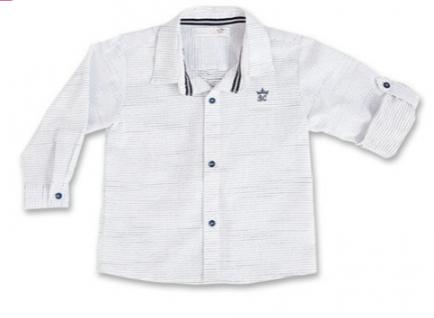 Camisa ml branca pontilhada G Barbara Kids 7486