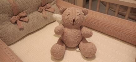 Urso M trico trança rose c/asas Fau