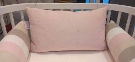 Cabeceira de berço tricô rosa Creative Biah